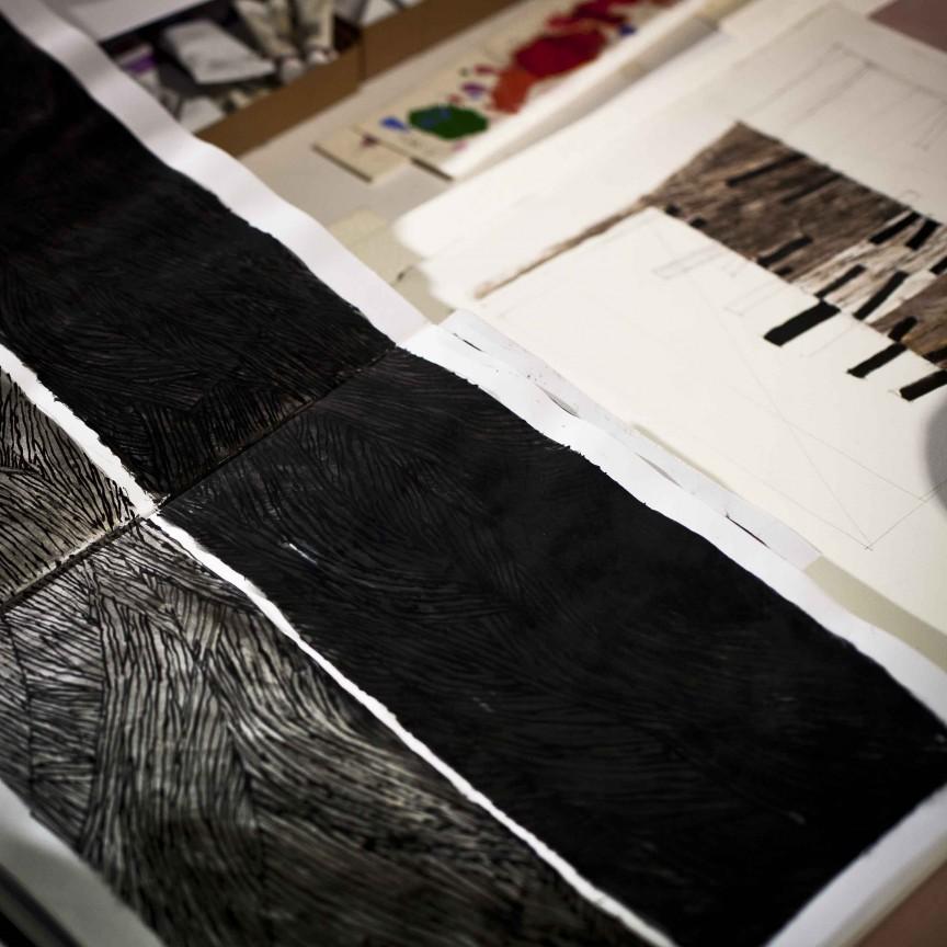 Studio dell'artista Giulio Candussio a Spilimbergo. Visita con Aldo Goz