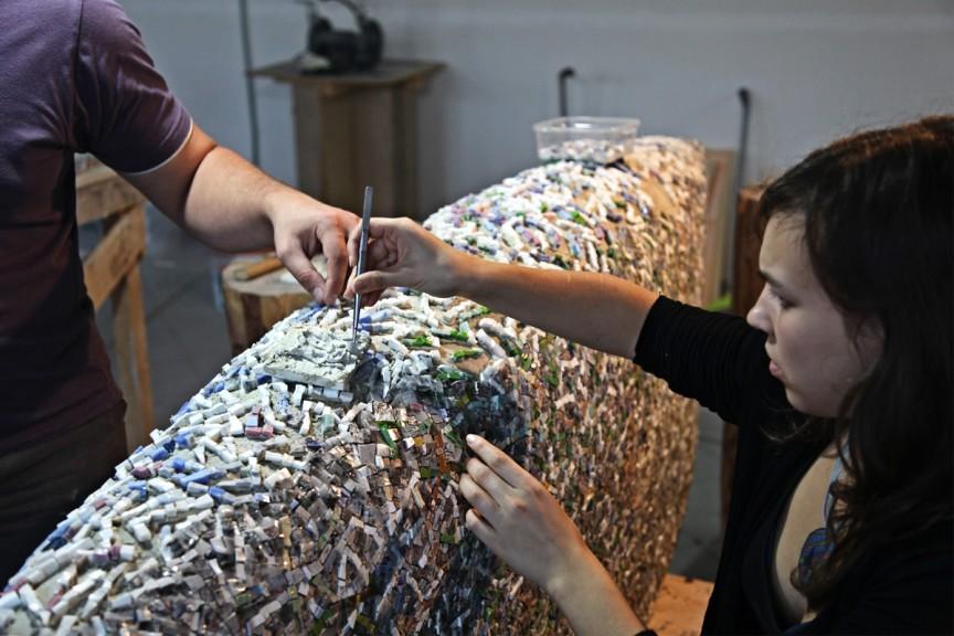 Giulio-Candussio-Biennale-Mosca-Fase-Lavorazione